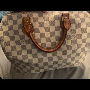 Speedy 30 Damier Azur in used condition AUTHENTIC